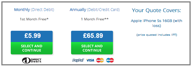 First Insurance Checkout image